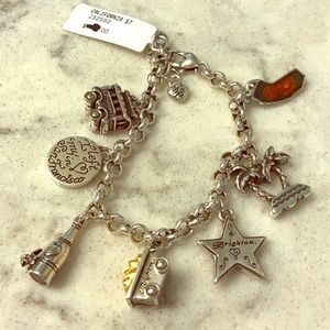 Brighton California State Bracelet with Charms